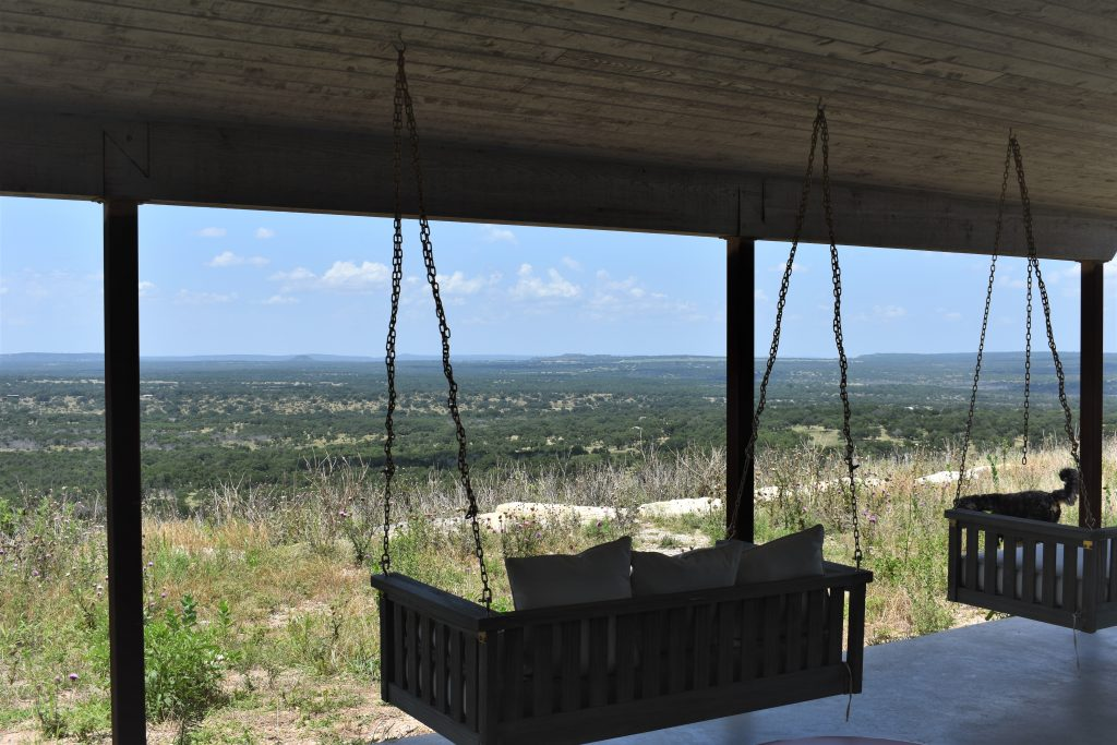Southold Farm and Cellar Swings Overlooking Texas Hill Country