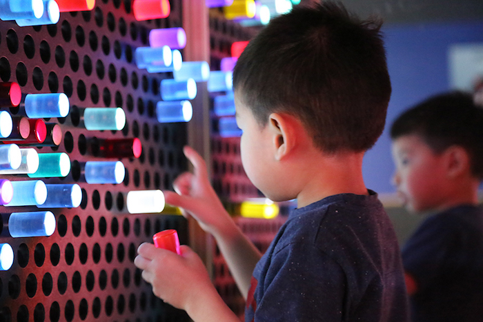 There's nothing better than a giant LiteBrite (Credit: Thinkery)