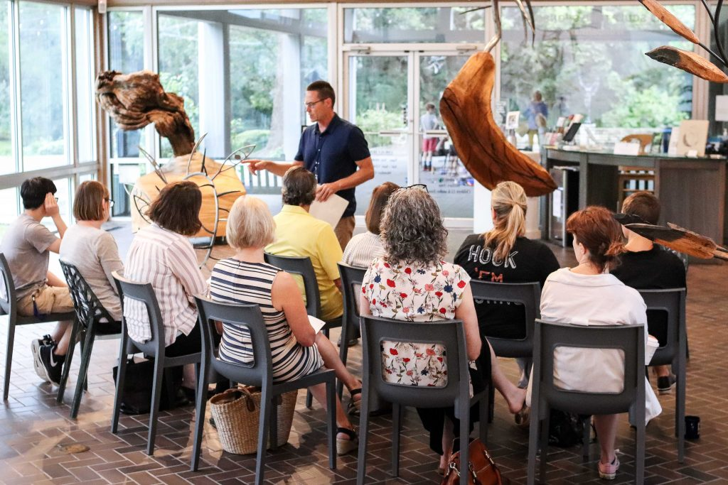 Scott Baltisberger Trains Umlauf Docents to Lead Touch Tours