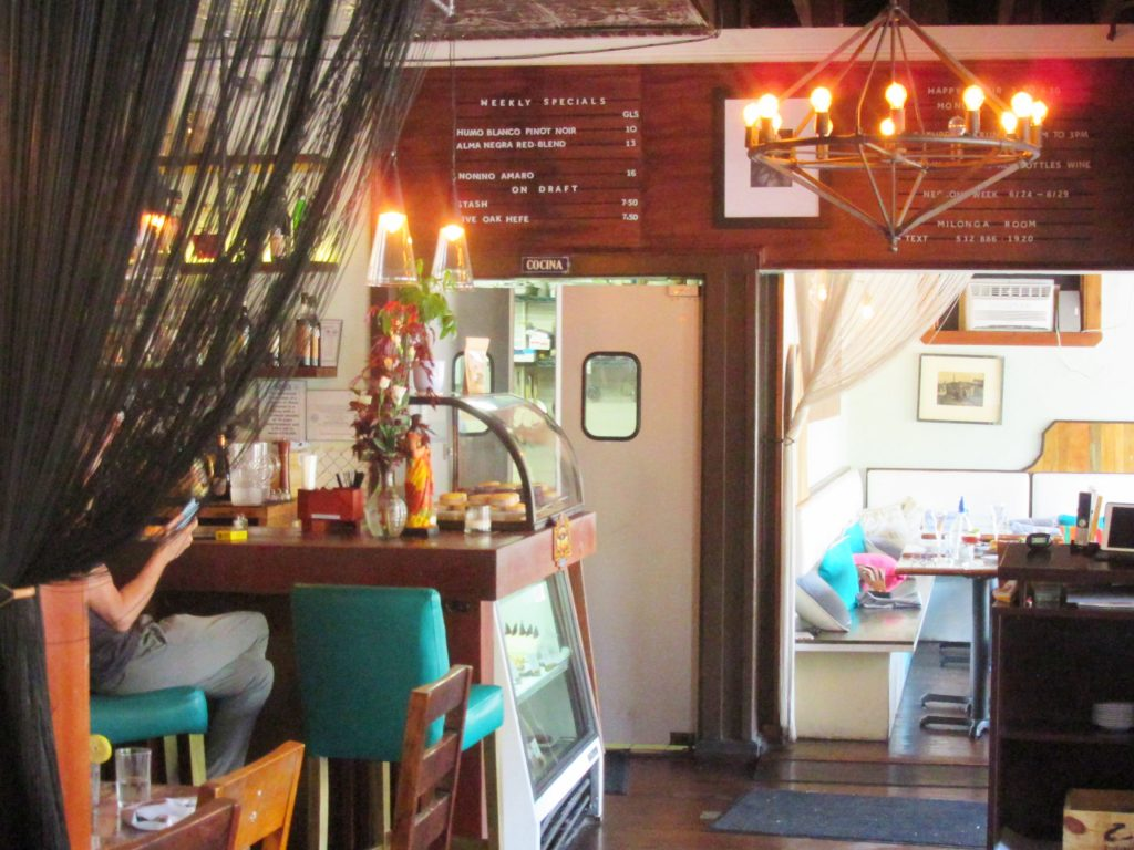 Buenos Aires Cafe Interior in East Austin
