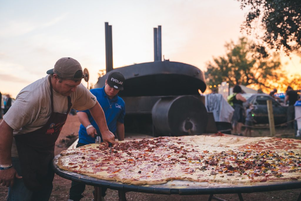 Giant Pizza at UTOPiAfest