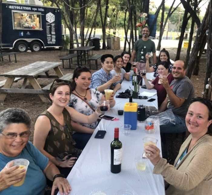 Austin Food Blogger Alliance Members at The Thicket in 2019