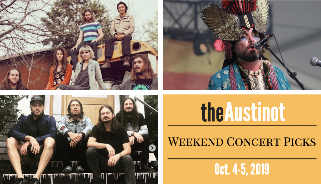 Austinot Weekend Concert Picks October 4-5 2019
