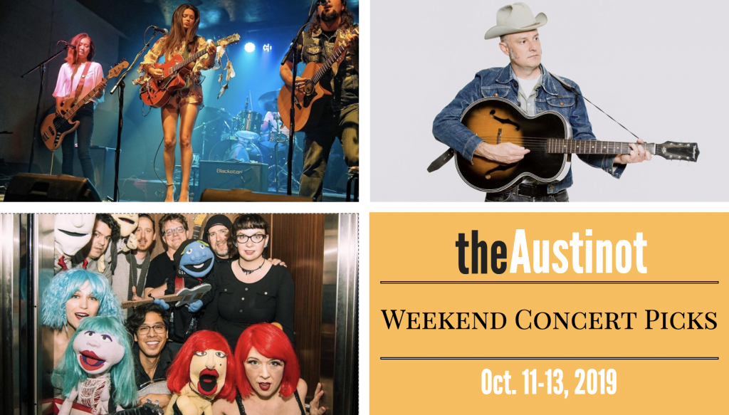Austinot Weekend Concert Picks October 11-13 2019
