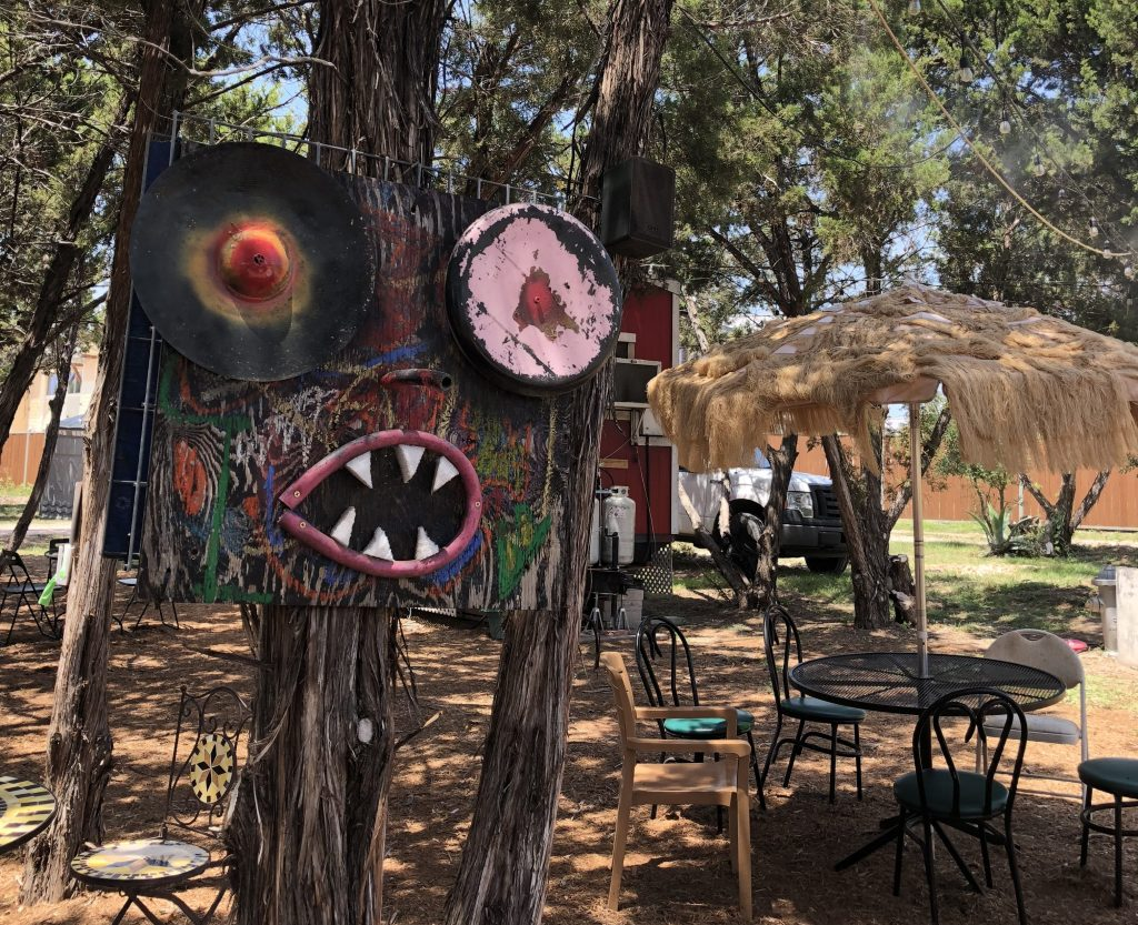 Friendly Monster Art at The Thicket Food Truck Park