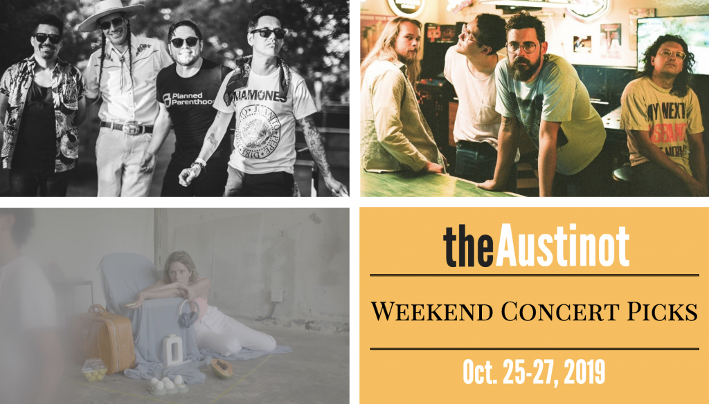 Austinot Weekend Concert Picks October 25-27, 2019