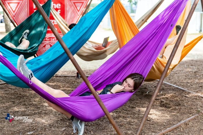 Resting in Hammocks at ACL Music Fest 2019