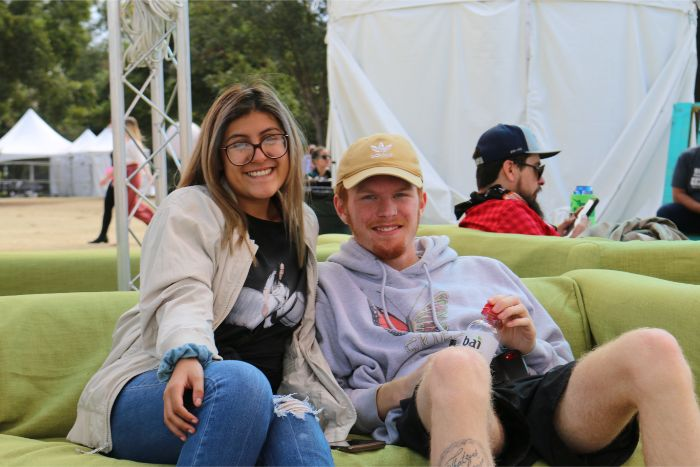 Relaxing on Sofas at ACL Music Fest 2019