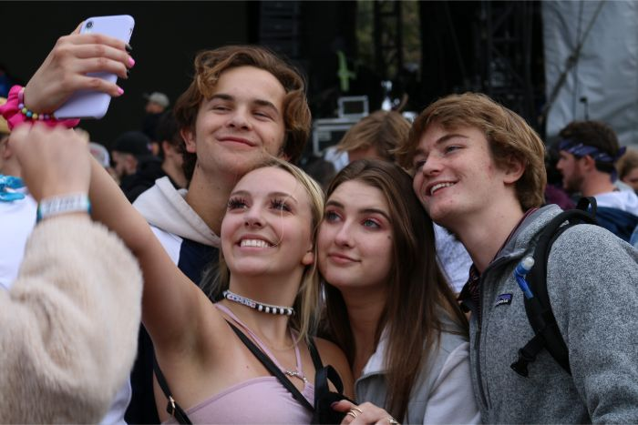 Teens Taking Selfie at ACL Music Fest 2019