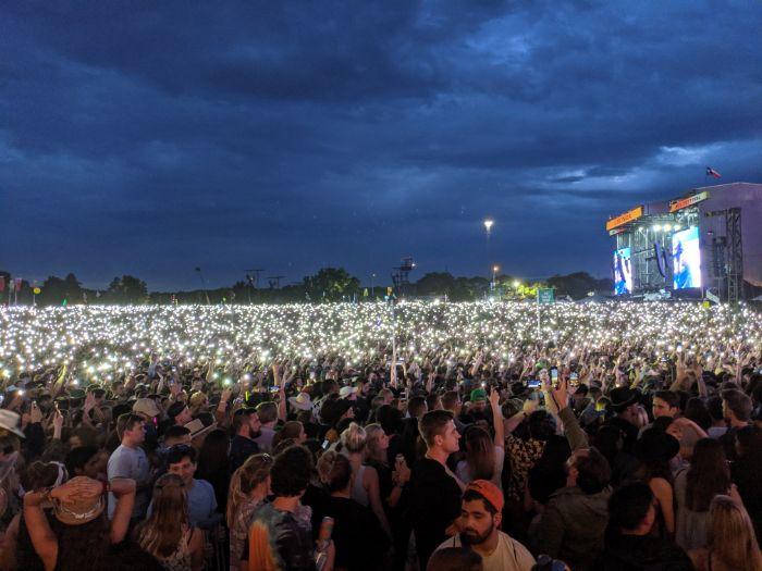 Cell Phones During Lizzo Show at ACL Fest 2019