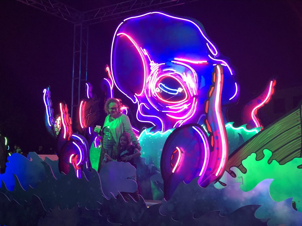 Neon Kraken at Surrreal Sea 2018