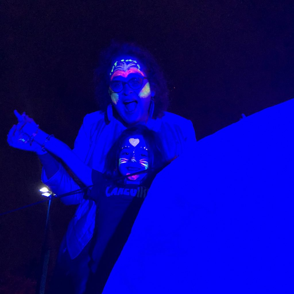 Glow in the Dark Face Painting at Surreal Sea