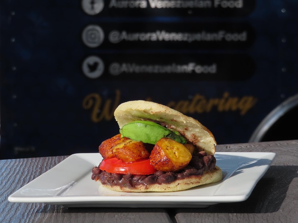 Vegan Arepa at Aurora Venezuelan Food in Austin