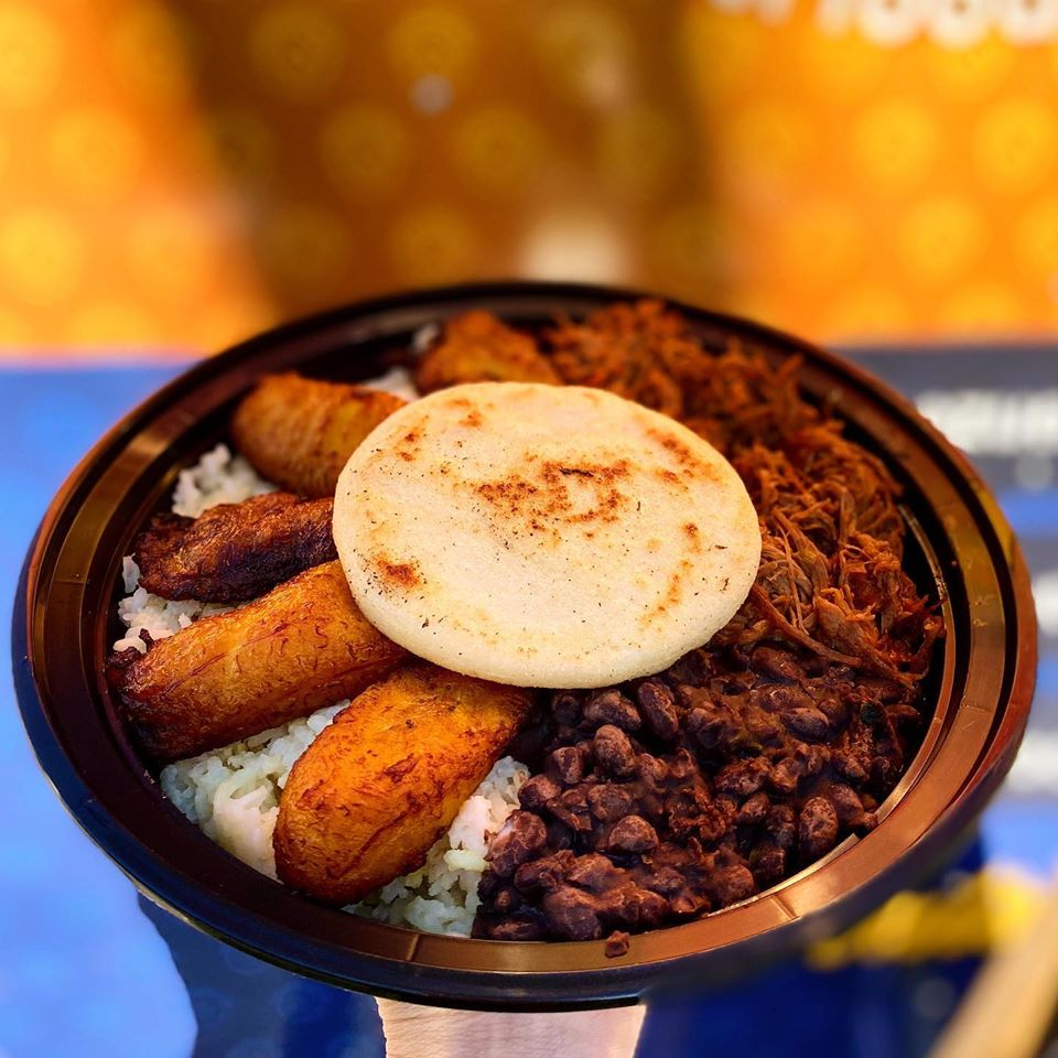 Pabellon Bowl at Aurora Venezuelan Food in Austin