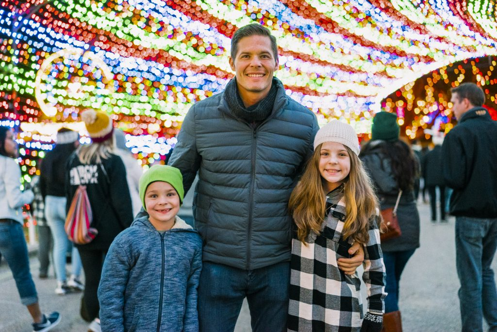 Family at Austin Trail of Lights