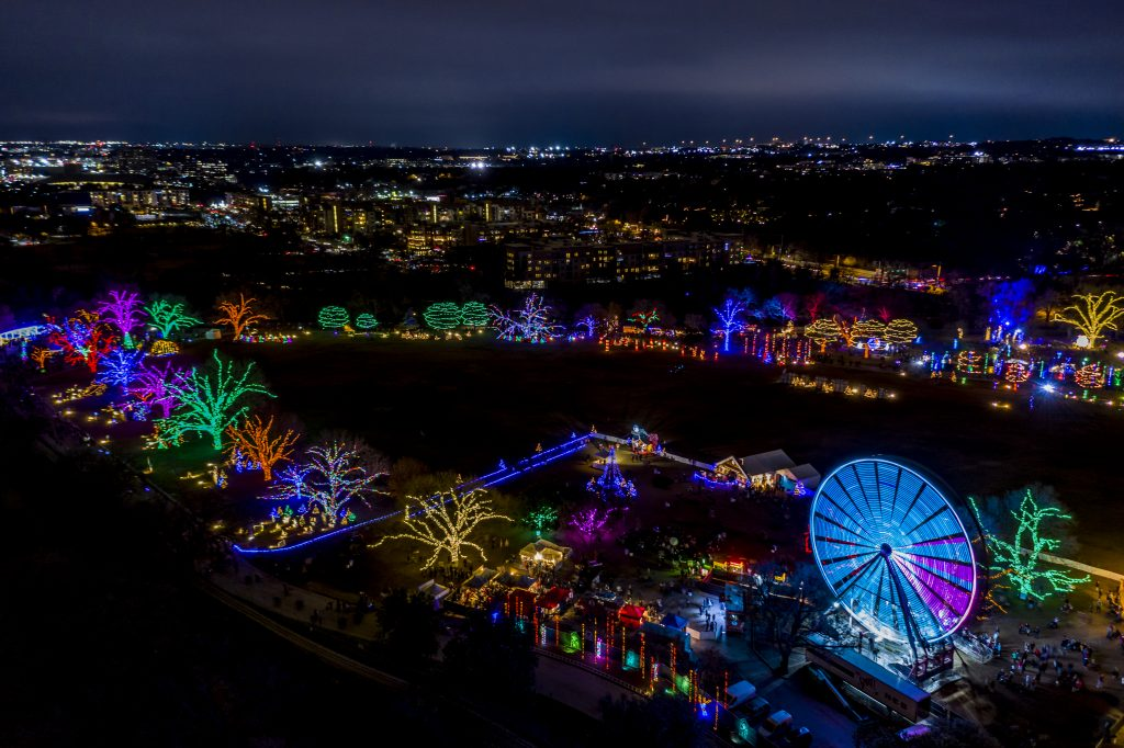 Austin Trail of Lights Aerial View