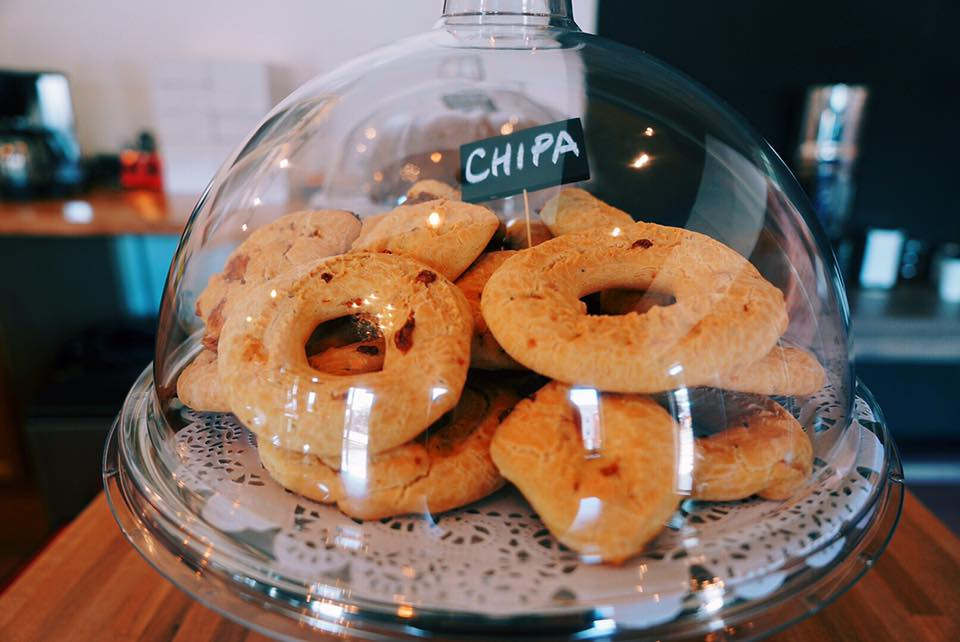Chipa cheese-flavored bread at Austin Cafe