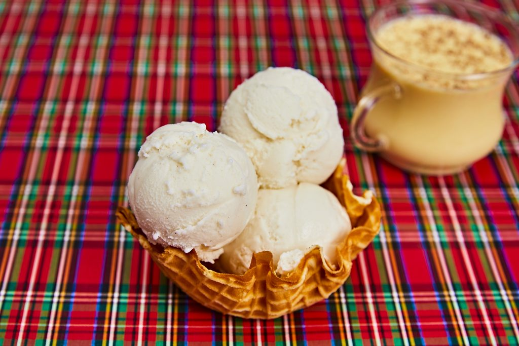 Spiked Eggnog Ice Cream