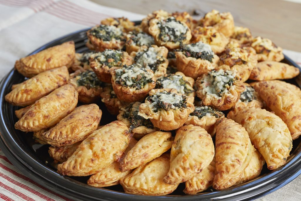 Tiny Pies savory pies and empanadas for holiday party trays in Austin