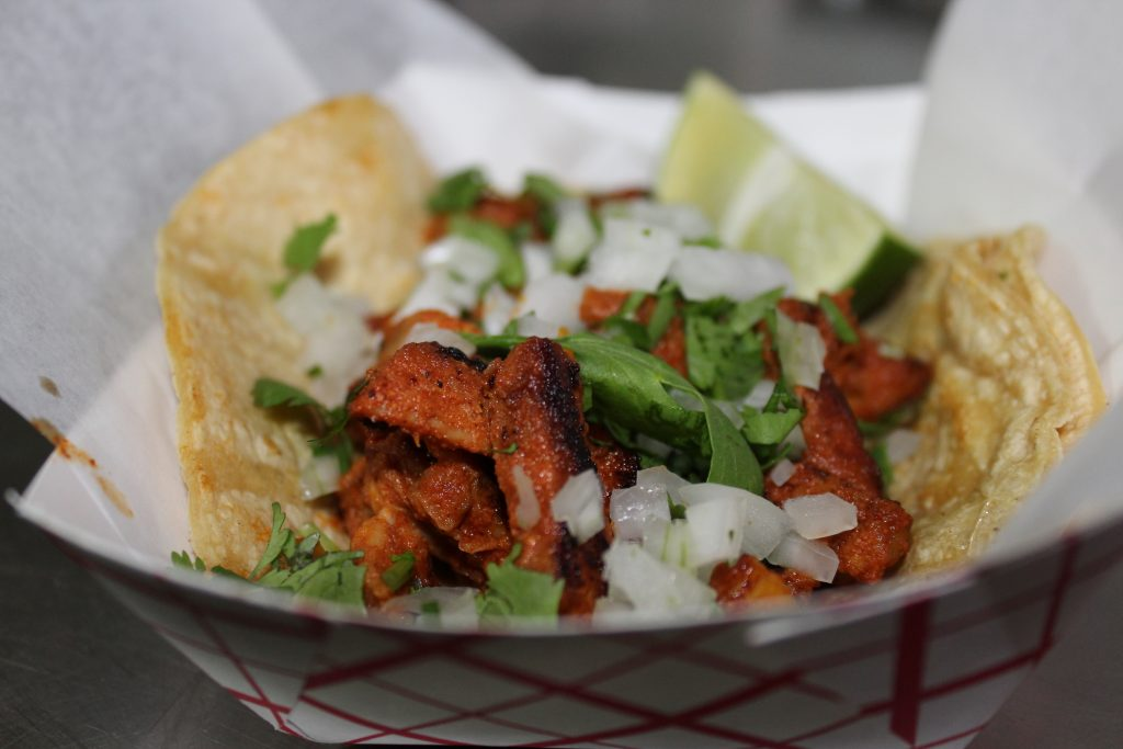 Holiday Party Trays of Al Pastor Tacos in Austin