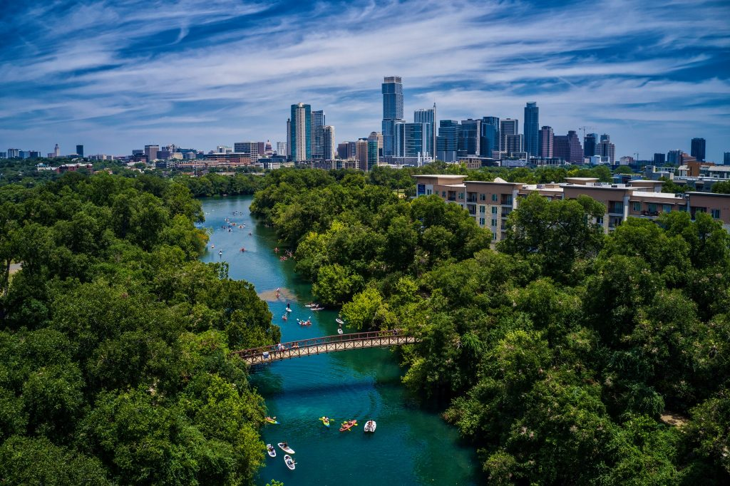Lady Bird Lake Austin Skyline