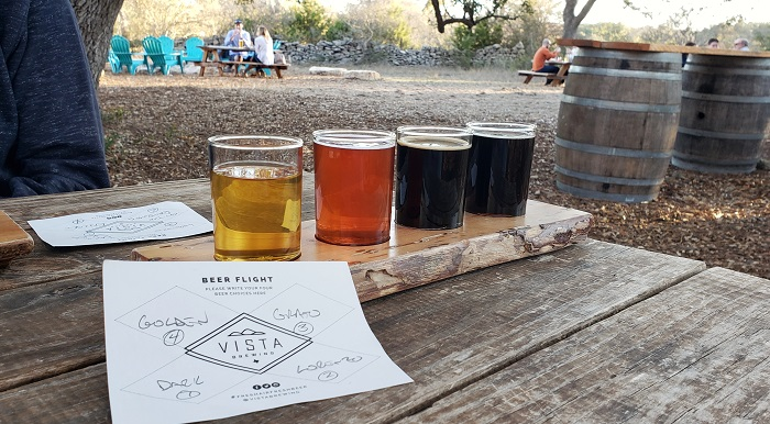 Vista Flight of Beer in Driftwood Texas