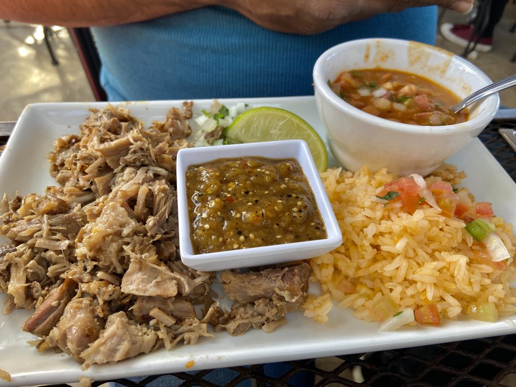 Slow Cooked Carnitas at Gabriela's in Austin