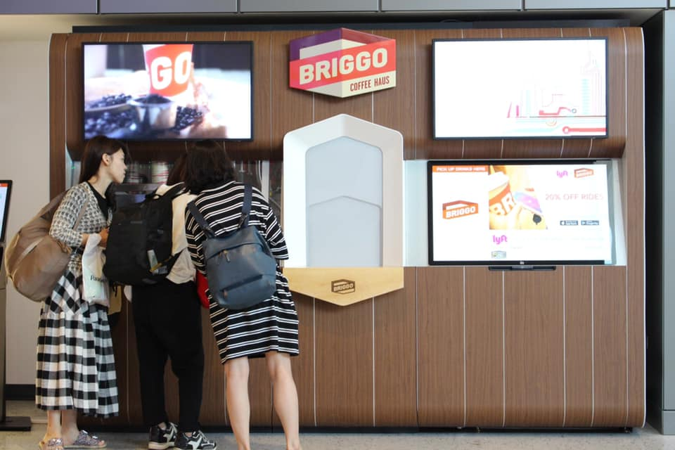 Briggo Coffee Dispenser at Austin Airport