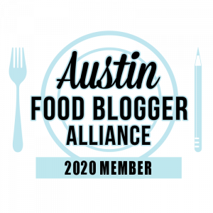 Austin Food Blogger Alliance Member Badge 2020